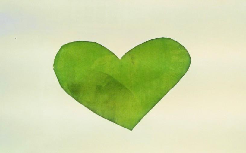 Ein grünes Herz